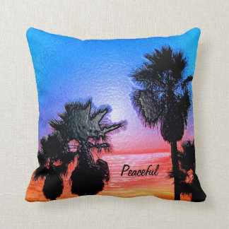 Peaceful_ Throw Pillows