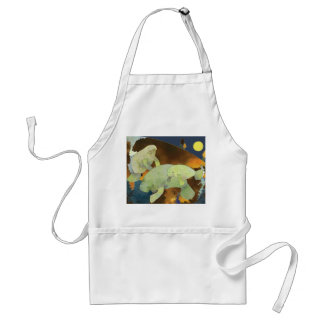 Peaceful Cute Manatee Family Standard Apron