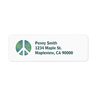 Peaceful Earth Address Label