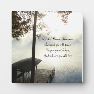 Peaceful Foggy Lake Inspirations Photo Plaques