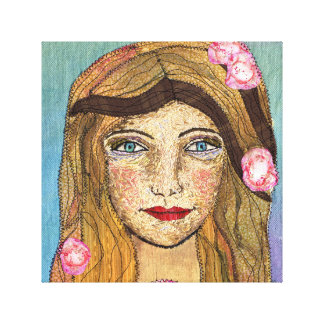 Peaceful Girl Canvas Print