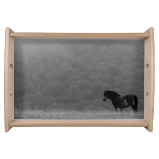Peaceful horse in nature serving tray. serving tray