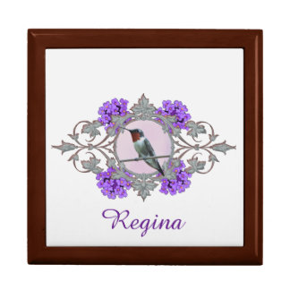 Peaceful Hummingbird Perched on Wire Gift Box
