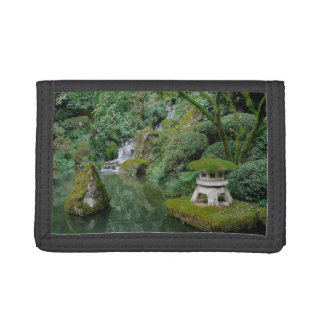 Peaceful Japanese Gardens Trifold Wallets