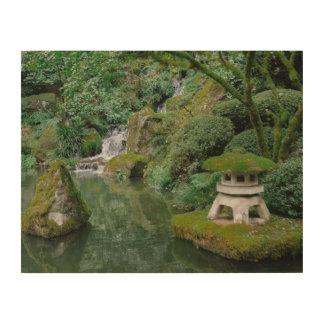 Peaceful Japanese Gardens Wood Print