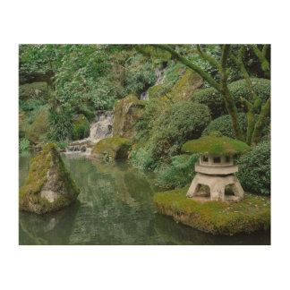 Peaceful Japanese Gardens Wood Wall Art