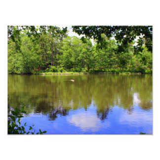Peaceful Lake Art Photo