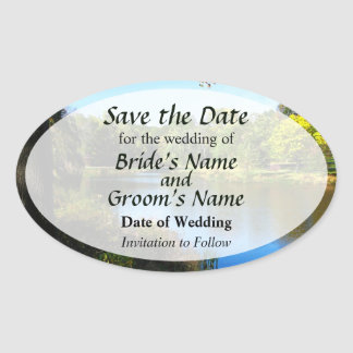 Peaceful Lake Save the Date Sticker