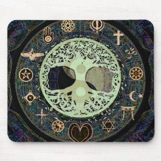 Peaceful Living Yin Yang Tree of Life Mouse Pad
