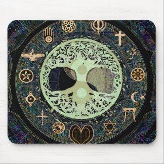 Peaceful Living Yin Yang Tree of Life Mouse Pad