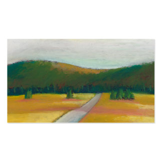 Peaceful modern impressionist landscape art path Double-Sided standard business cards (Pack of 100)