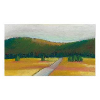 Peaceful modern impressionist landscape art path pack of standard business cards