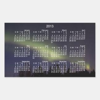 Peaceful Northern Lights; 2013 Calendar Rectangular Sticker