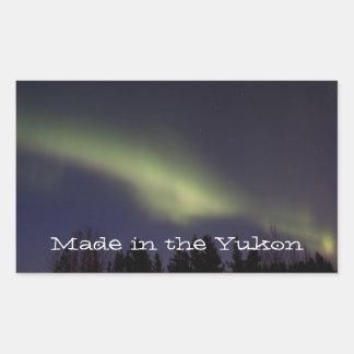 Peaceful Northern Lights; Yukon Souvenir Rectangular Sticker