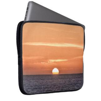 Peaceful Orange Sky Pacific Ocean Sunset Computer Sleeves