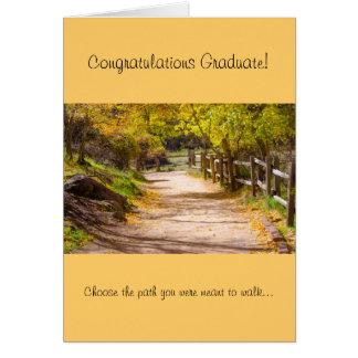 Peaceful Path Graduation Greeting Card