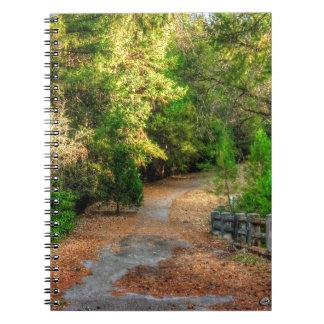 Peaceful pathway thru fall foliage notebook