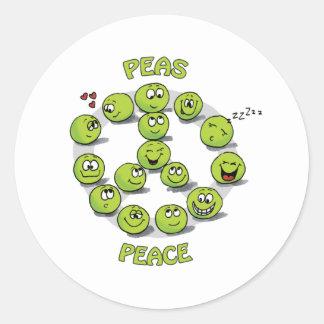 Peaceful Peace Round Sticker
