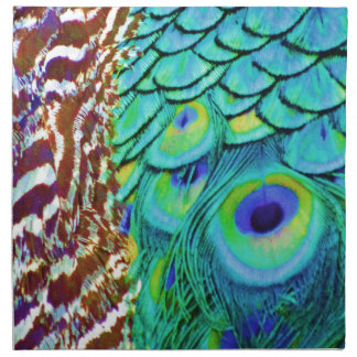 Peaceful Peafowl Flow Napkins