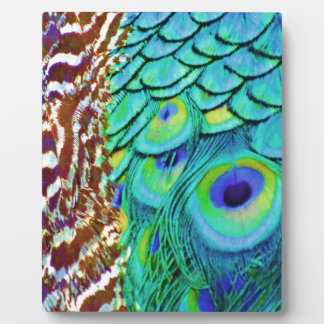Peaceful Peafowl Flow Plaque