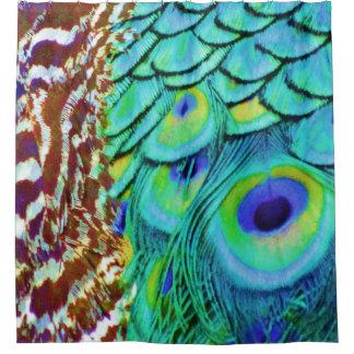 Peaceful Peafowl Flow Shower Curtain