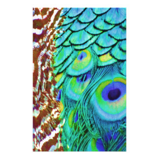 Peaceful Peafowl Flow Stationery