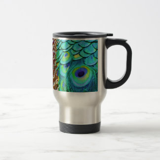 Peaceful Peafowl Flow Travel Mug