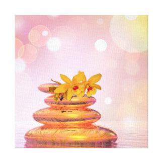 Peaceful pebbles - 3D render Canvas Print