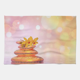 Peaceful pebbles - 3D render Hand Towels