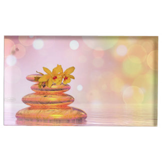 Peaceful pebbles - 3D render Table Card Holders