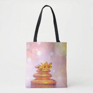 Peaceful pebbles - 3D render Tote Bag