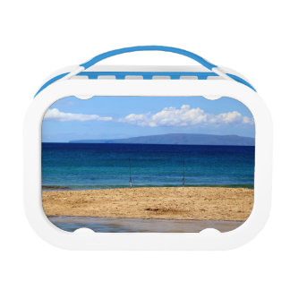 Peaceful picture of fishing rods on a beach, Maui Lunch Boxes