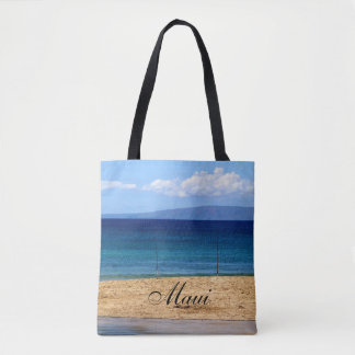 Peaceful picture of fishing rods on a beach, Maui Tote Bag