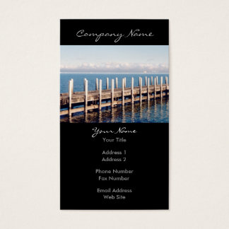 Peaceful Pier Photo Business Card