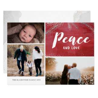 Peaceful Pines Holiday Multi Photo Card