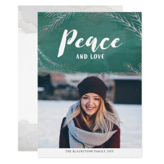 Peaceful Pines Holiday Photo Card