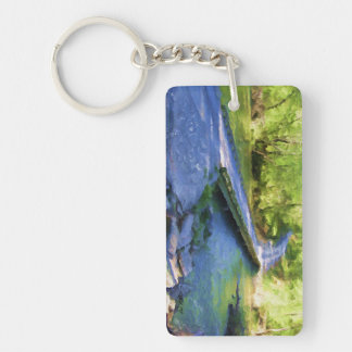 Peaceful Point Key Ring