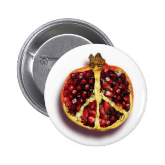 Peaceful Pomegranate Button