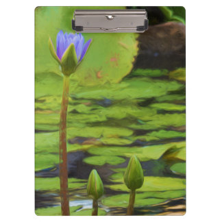 Peaceful Pond Water Lily Clipboard