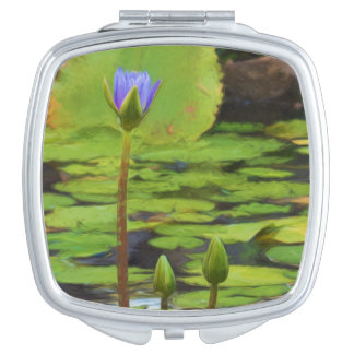 Peaceful Pond Water Lily Compact Mirror