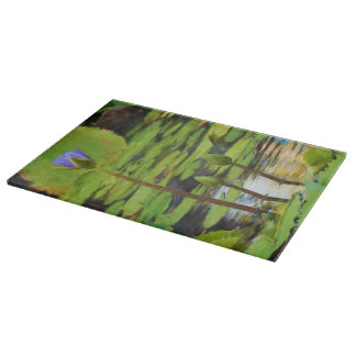 Peaceful Pond- Water Lily Cutting Board