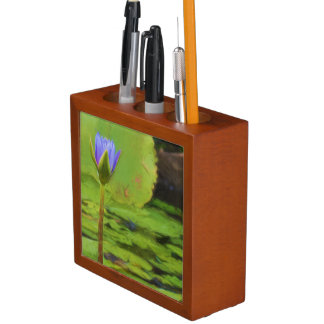 Peaceful Pond Water Lily Desk Organizer