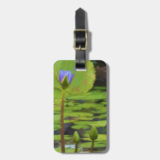Peaceful Pond Water Lily Luggage Tag