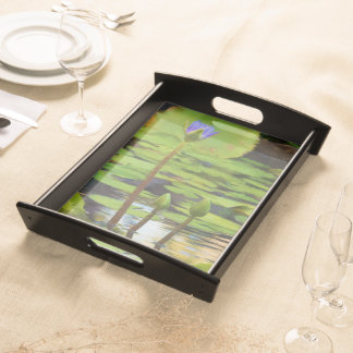Peaceful Pond- Water Lily Serving Tray