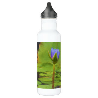 Peaceful Pond- Water Lily Water Bottle 710 Ml Water Bottle