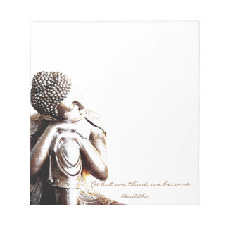 Peaceful resting Buddha with words of wisdom Notepad