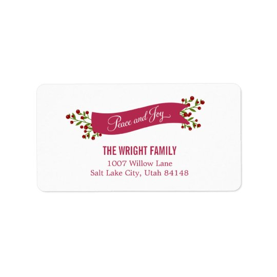 Peaceful Ribbon Address Labels