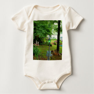 Peaceful Scenic Lakefront View Baby Bodysuit