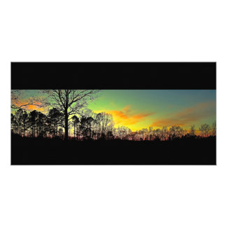 Peaceful Silhouette Sunset Photo Greeting Card