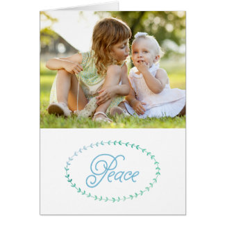 Peaceful Simplicity Christmas Photo Greeting Card
